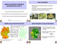 Spatial and statistical modelling of phenological data using 'R'