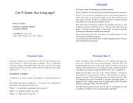 Can R Speak Your Language? - The R Project for Statistical ...