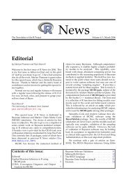 Editorial - The R Project for Statistical Computing
