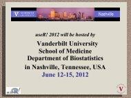 Vanderbilt University School of Medicine Department of Biostatistics ...