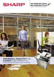 Down Load Sharp MX 5001n Brochure - Tec Office Solutions
