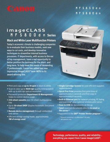imageCLASS MF5800 - R3 Business Solutions