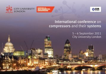 International conference on compressors and their systems - Events