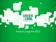 Green & Cool Product Program 2012