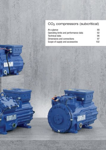 CO2 compressors (subcritical)