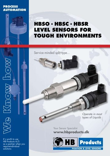 hbso · hbsc · hbsr level sensors for tough environments