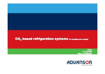CO based refrigeration systems based refrigeration systems CO ...