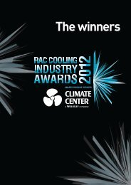 Winners of RAC Cooling Awards 2012 - Everything R744