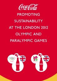 Coka-Cola Promoting Sustainability at the London 2012 Olympic ...