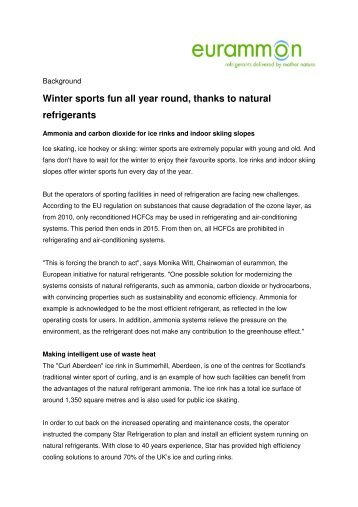 Winter sports fun all year round, thanks to natural ... - ammonia21.com