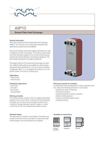 Brazed Plate Heat Exchanger - Alfa Laval