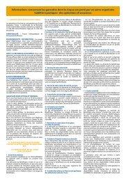 Informations concernant les garanties dont le risque est porté par un ...
