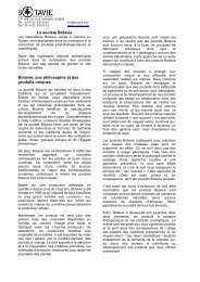 La société Botavie Botavie, une philosophie et des produits uniques