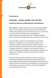 antwerpes + partner gründet neue SFE-Unit - DocCheck AG