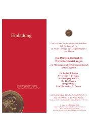 Zur Einladung und Anmeldung - Goldenstein & Partner