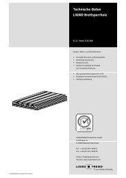 Technische Daten LIGNO Brettsperrholz - Vers la page