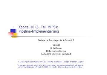 Pipeline-Implementierung - Ra.informatik.tu-darmstadt.de ...