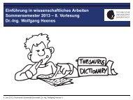 8. Vorlesung Dr.-Ing. Wolfgang Heenes - Ra.informatik.tu-darmstadt ...
