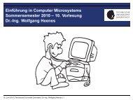 10. Vorlesung Dr.-Ing. Wolfgang Heenes - Ra.informatik.tu ...