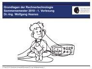 Grundlagen der Rechnertechnologie Sommersemester 2010 - 1 ...