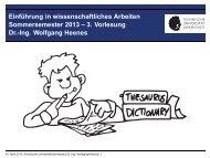 3. Vorlesung Dr.-Ing. Wolfgang Heenes - Ra.informatik.tu-darmstadt ...
