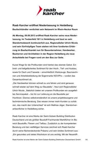 PDF Download dieser Pressemitteilung - Raab Karcher