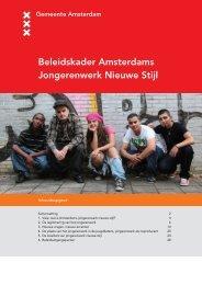 Beleidskader Amsterdams Jongerenwerk Nieuwe Stijl - Deelraad ...