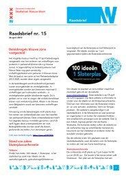 Raadsbrief nr. 15 - Deelraad Nieuw-West