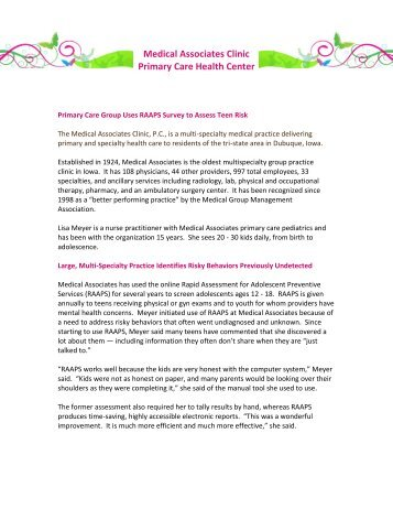 View Case Study - Rapid Assessment for Adolescent Preventive ...