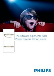 The ultimate experience with Philips Cinema Xenon lamps