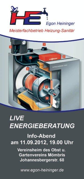 LIVE - Egon Heininger