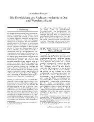 Die Entwicklung des Rechtsextremismus in Ost- und ... - Rabenclan
