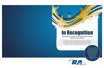 In Recognition - RA Centre