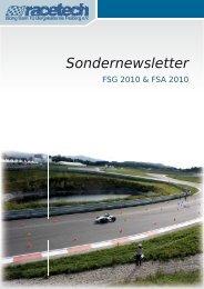 Sondernewsletter FSG 2010 & FSA 2010 - racetech