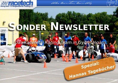 SONDER NEWSLETTER - racetech