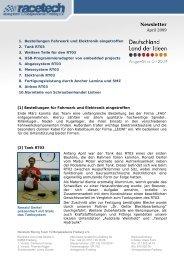 Newsletter - racetech