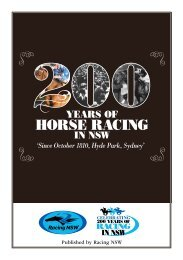 200 Years of Horse Racing in NSW - Official Booklet - Racing NSW