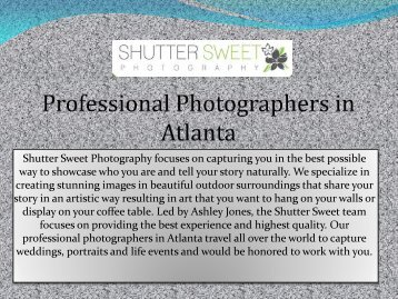 Professional photography atlanta / Sequoia national park lodging
