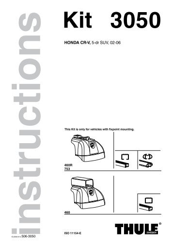 thule 753 fitting instructions