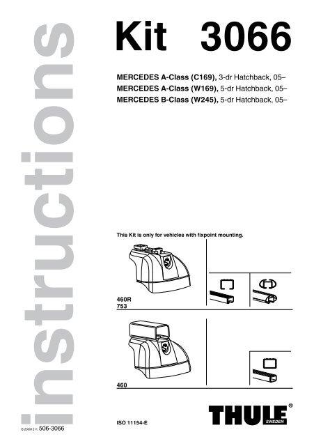 Thule Podium Sistema Fit Kit