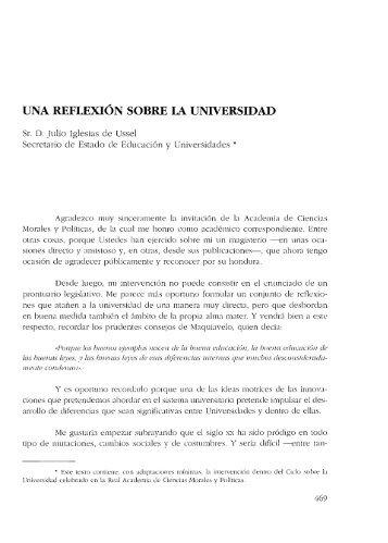 Proyectos para la Universidad española - Real Academia de ...