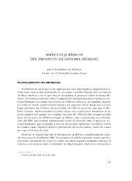 ASPECTOS JURÍDICOS DEL PROYECTO DE GENOMA HUMANO