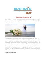 Wedding Catering Maple Grove