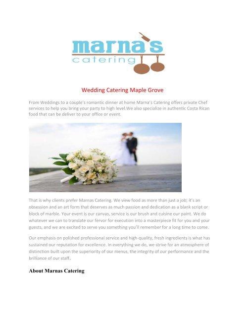 Wedding Catering Maple Grove