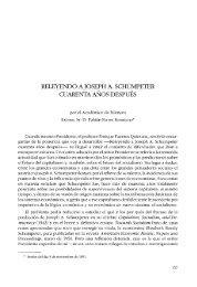 Releyendo Joseph A. Schumpeter cuarenta años después