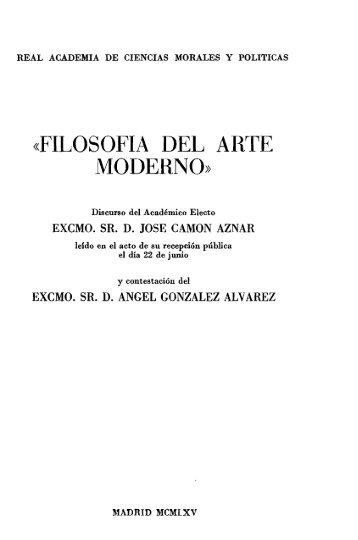 Filosofía del arte moderno - Real Academia de Ciencias Morales y ...