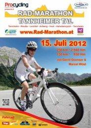 15. Juli 2012 - Rad-Marathon Tannheim
