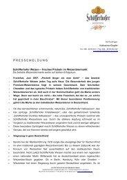 P R E S S E M E L D U N G - Radeberger Gruppe KG