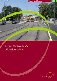 Ausbau Meißner Straße in Radebeul-Mitte