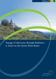 Voyage Of Discovery Through Radebeul